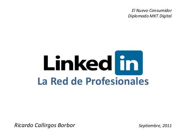 El Nuevo Consumidor                           Diplomado MKT Digital         La Red de ProfesionalesRicardo Callirgos Borbo...