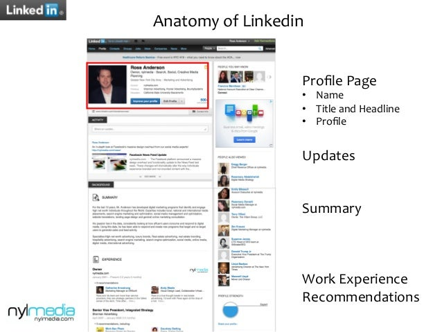 12 anatomy of linkedin prole - Real Estate Profile Summary