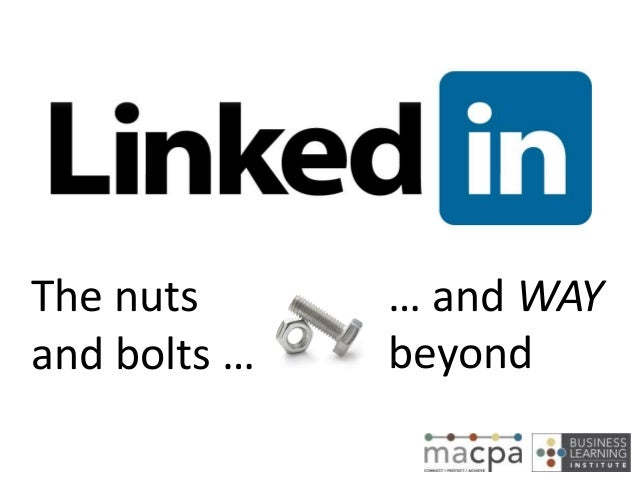 The nuts and bolts … … and WAY beyond
