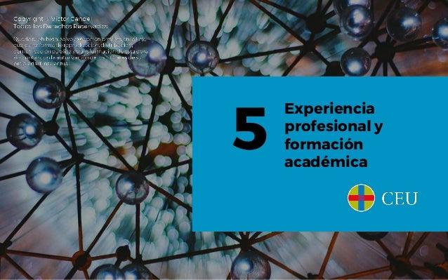 Experiencia profesional y formación académica 5