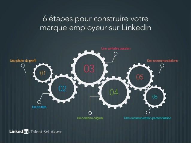 6 étapes pour construire votre marque employeur sur LinkedIn Une photo de profil Une véritable passion Des recommandations...