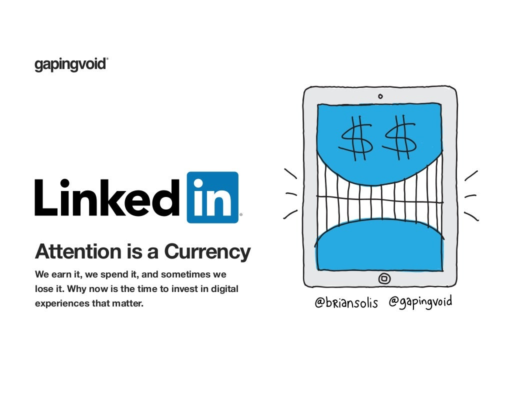 Attention is a Currency, We Earn It and We Spend It - Here's How to Engage It