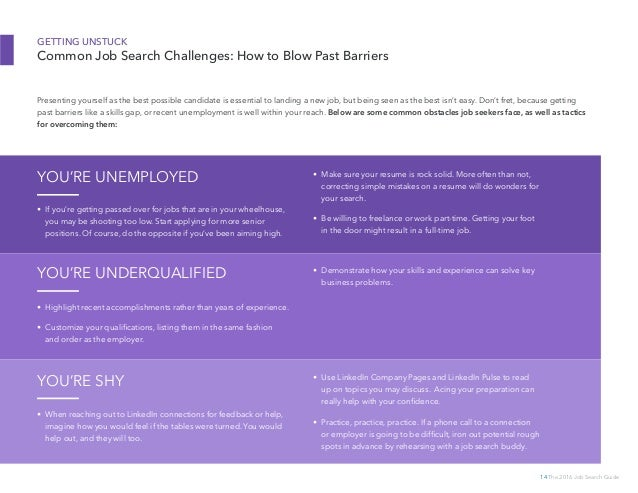 The 2016 Linkedin Job Search Guide