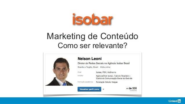 Marketing de Conteúdo Como ser relevante? 1