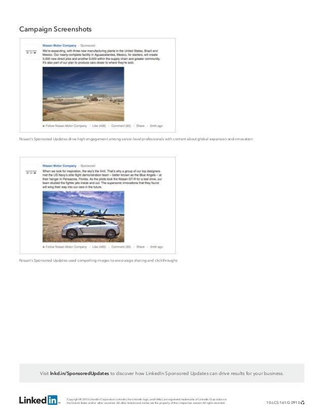 Linkedin Nissan Case Study