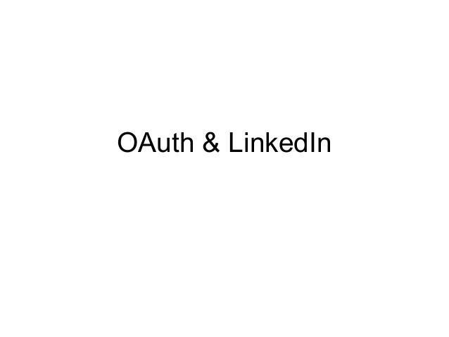 OAuth & LinkedIn