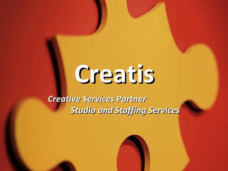 Creatis  Creative Services Partner Studio and Staffing Services