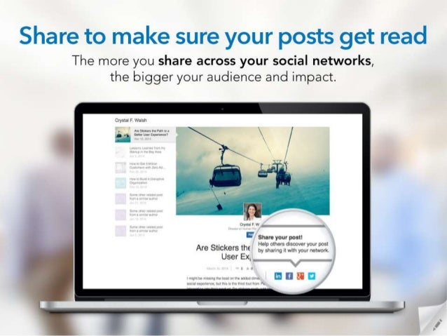 Share to make sure your posts get read  The more you share across your social networks,  the bigger your audience and impa...