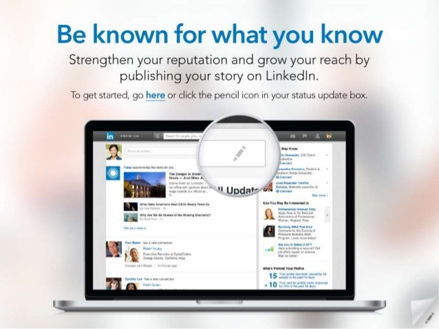 Be known for what you know  Strengthen your reputation and grow your reach by publishing your story on Linkedln.   To get ...