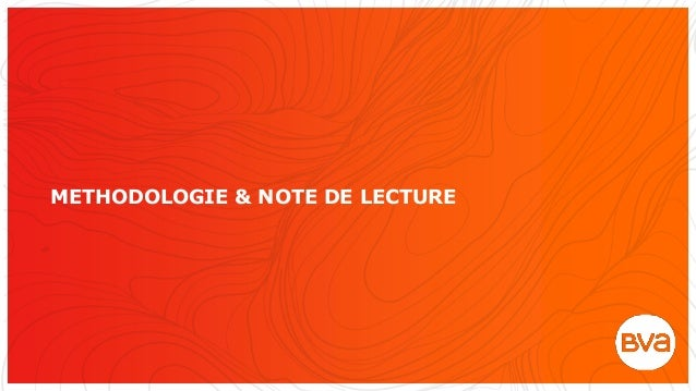 METHODOLOGIE & NOTE DE LECTURE