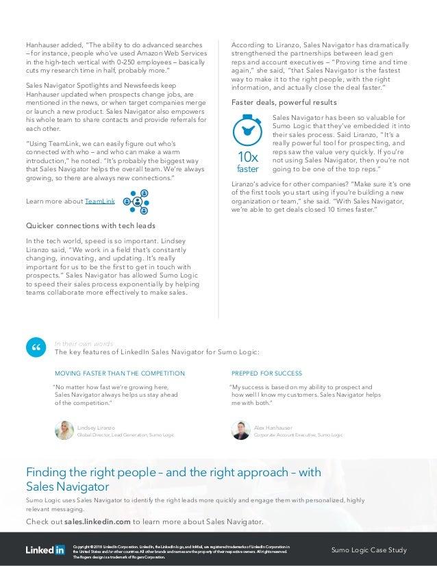 Sumologic LinkedIn Case Study Slide 2