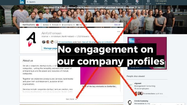 No engagement on our company profiles