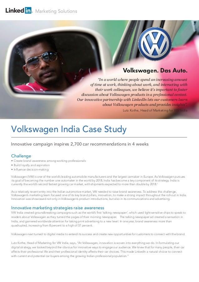 volkswagen a case study