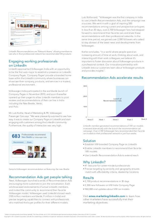LinkedIn Volkswagen Case Study Slide 2