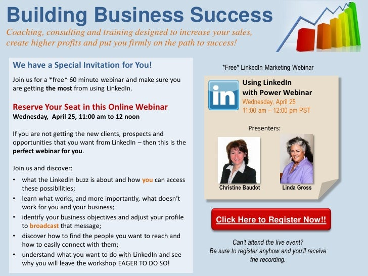 linkedin free webinar invitation. Black Bedroom Furniture Sets. Home Design Ideas