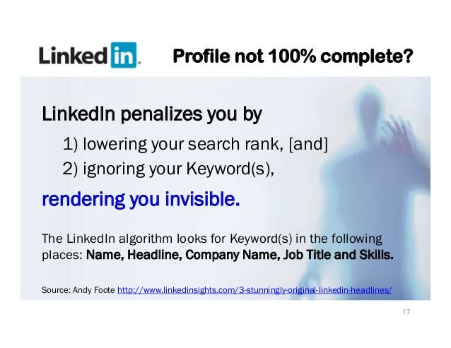 Linkedin says this profile is not available