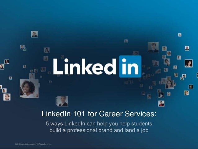 LinkedIn 101 for Career Services: