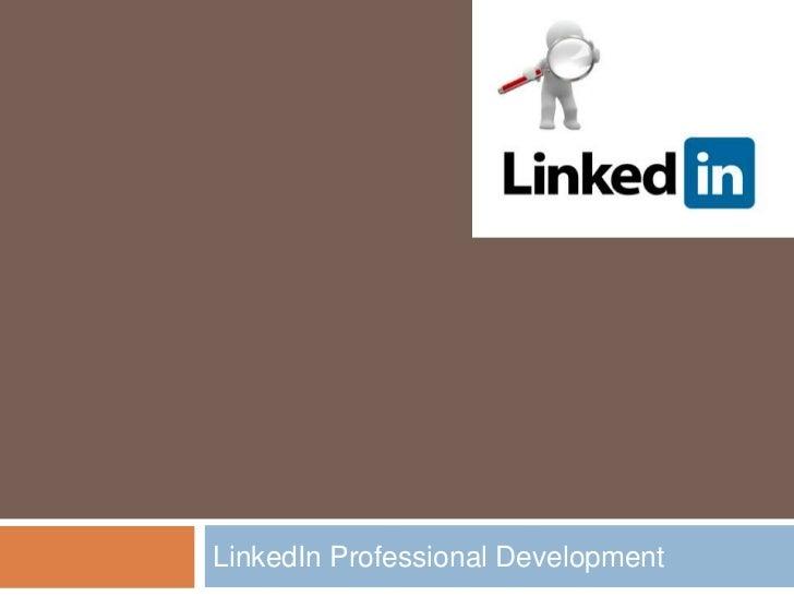 LinkedIn Professional Development