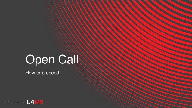 Open Call How to proceed