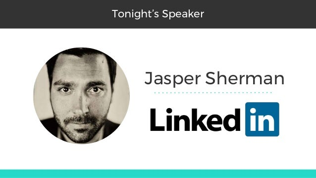 Jasper Sherman Tonight's Speaker