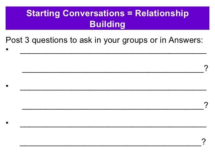 <ul><li>Post 3 questions to ask in your groups or in Answers: </li></ul><ul><li>________________________________________ <...