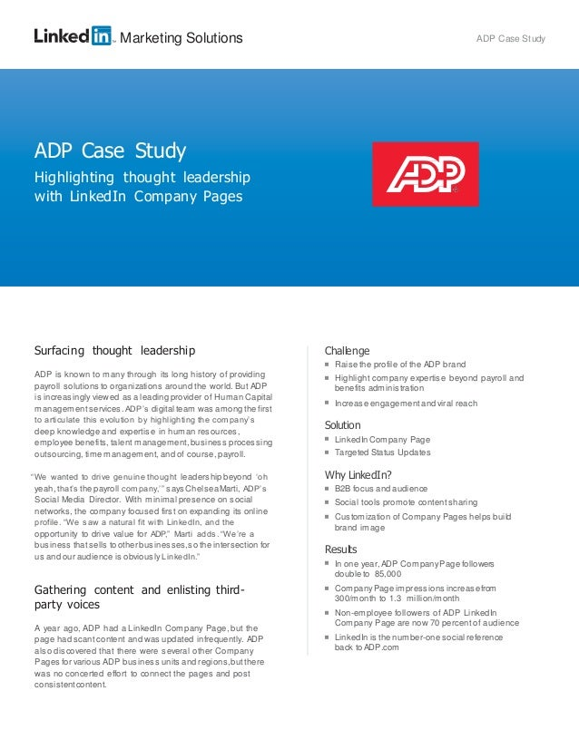 Case study of adp