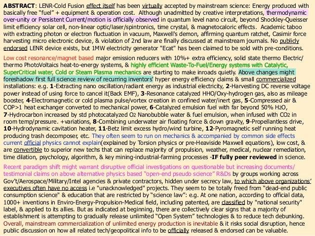 """Studená Fúzia, Tesla, Skalárne Vlny,  Torzné Pole, """"Voľné Energie"""" = Všetky Pseudo Veda ? / Cold Fusion, Tesla, Scalar Wave, Torsion Field, """"Free Energy"""".. = All Pseudoscience?(part 1 of 2) Slide 3"""