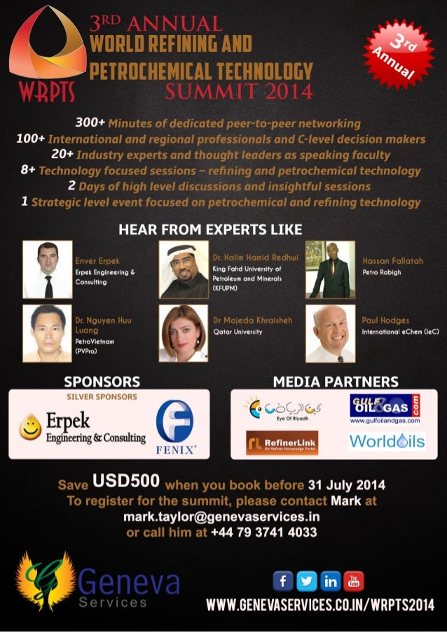 3rd Annual World Refining and Petrochemical Technology Summit _Advrt1