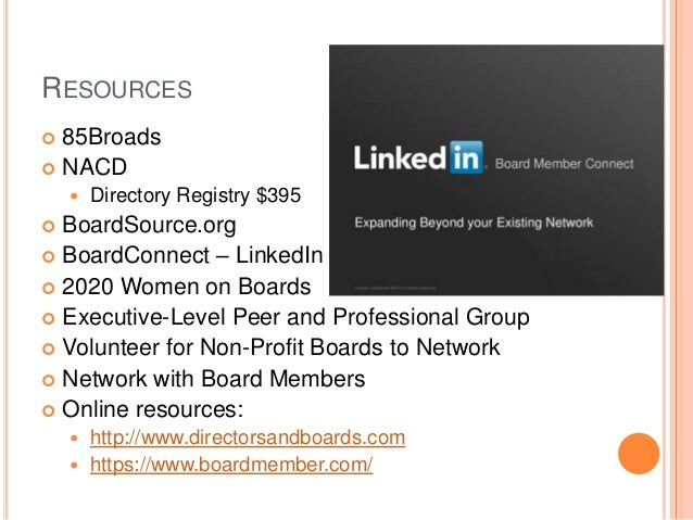 LinkedIn Board Profile