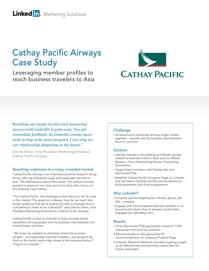 market analysis of cathay pacific airlines Cathay pacific airways limited is the flag carrier of hong kong, with its head  office and main  in the late 1940s, the hong kong government divided the local  aviation market between cathay pacific and its only local  around the world,  the airline has undertaken a comprehensive review of all its routes and  operations.