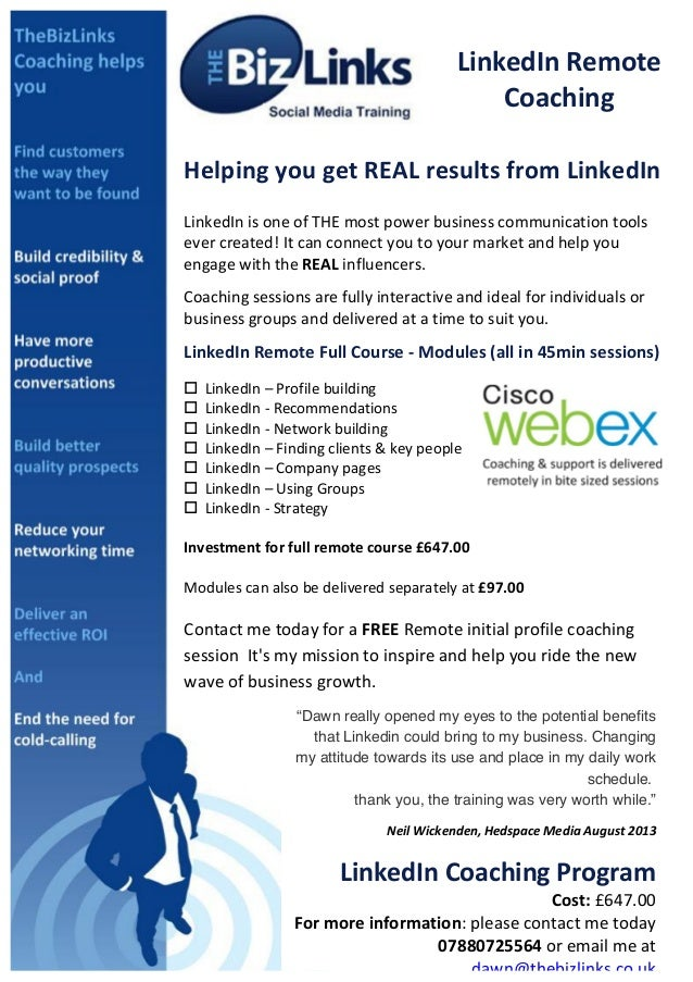 LinkedIn  Remote   Coaching   Helping  you  get  REAL  results  from  LinkedIn      Link...