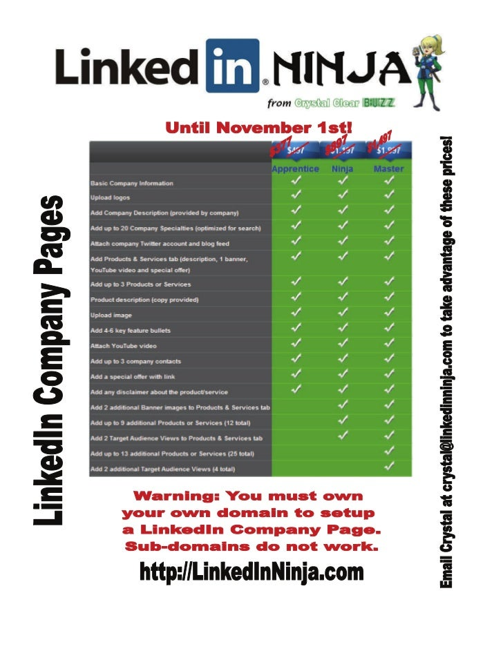 Linked in company pages flyer
