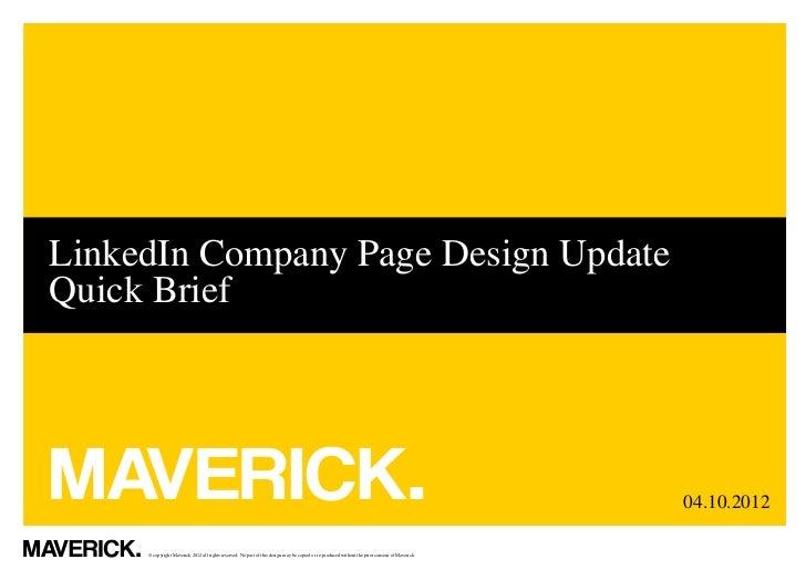 LinkedIn Company Page Design UpdateQuick Brief                                                                            ...