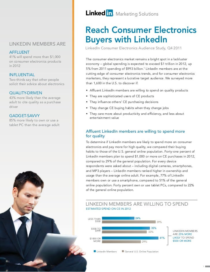 Marketing Solutions                                         Reach Consumer ElectronicsLINKEDIN MEMBERS ARE                ...