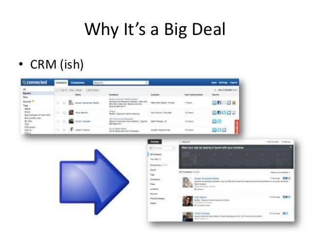 Why It's a Big Deal• CRM (ish)
