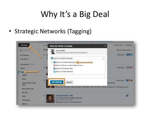 Why It's a Big Deal• Strategic Networks (Tagging)