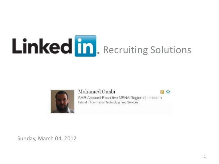 Recruiting SolutionsSunday, March 04, 2012     Recruiting Solutions                             v                     1