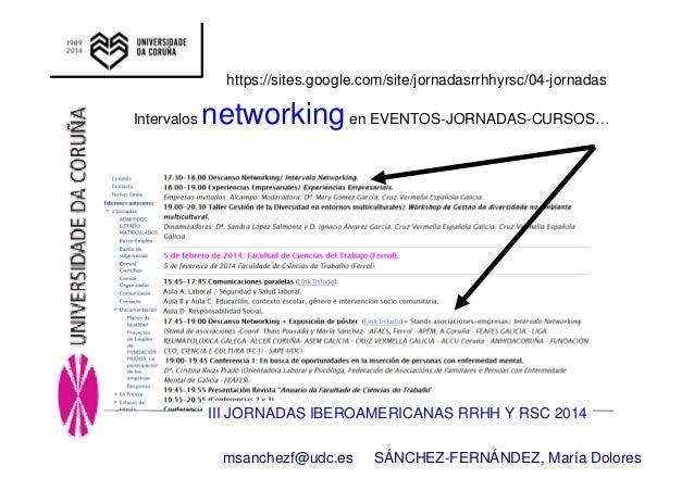 https://sites.google.com/site/jornadasrrhhyrsc/04-jornadas  Intervalos networking en EVENTOS-JORNADAS-CURSOS…  III JORNADA...