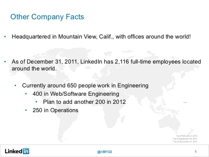 Other Company Facts•  Headquartered in Mountain View, Calif., with offices around the world!                              ...