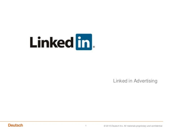 Linked in Advertising <br />