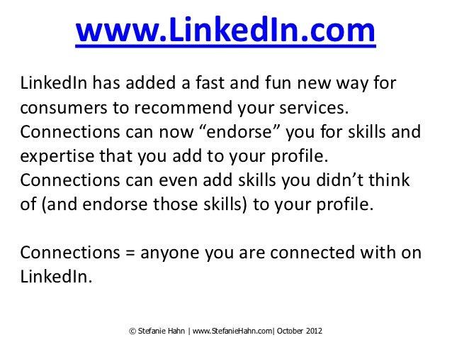 LinkedIn Endorsements Slide 3