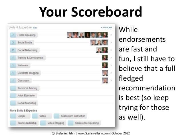 Your Scoreboard                                             While                                             endorsements...