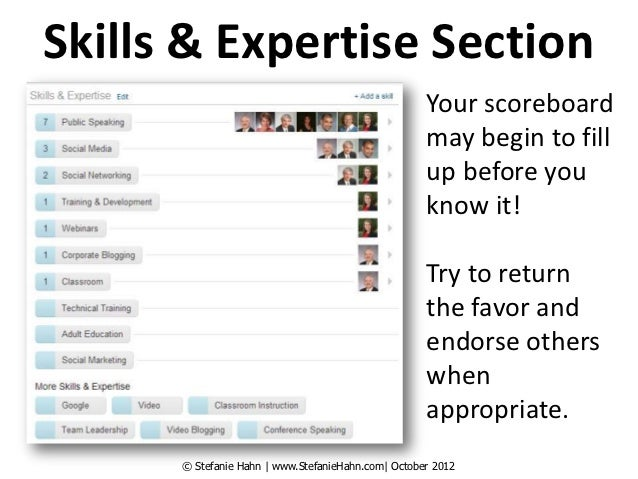 Skills & Expertise Section                                                    Your scoreboard                             ...