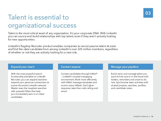 03Talent is essential toorganizational successfor new opportunities.With the most powerful searchRecruiter, you can expand...