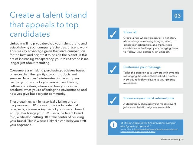 03that appeals to topcandidatesestablish why your company is the best place to work.for the best and brightest minds on th...