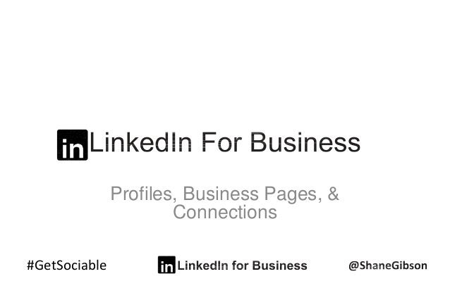 #GetSociable Profiles, Business Pages, & Connections