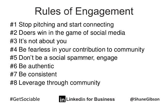 #GetSociable #1 Stop pitching and start connecting #2 Doers win in the game of social media #3 It's not about you #4 Be fe...