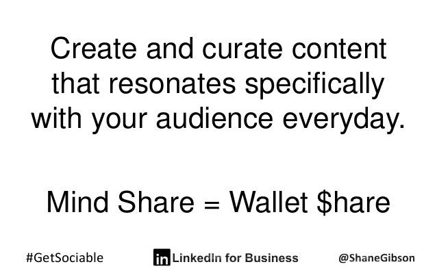 #GetSociable Create and curate content that resonates specifically with your audience everyday. Mind Share = Wallet $hare
