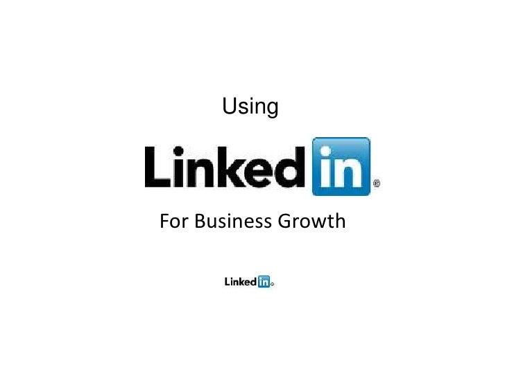 UsingFor Business Growth