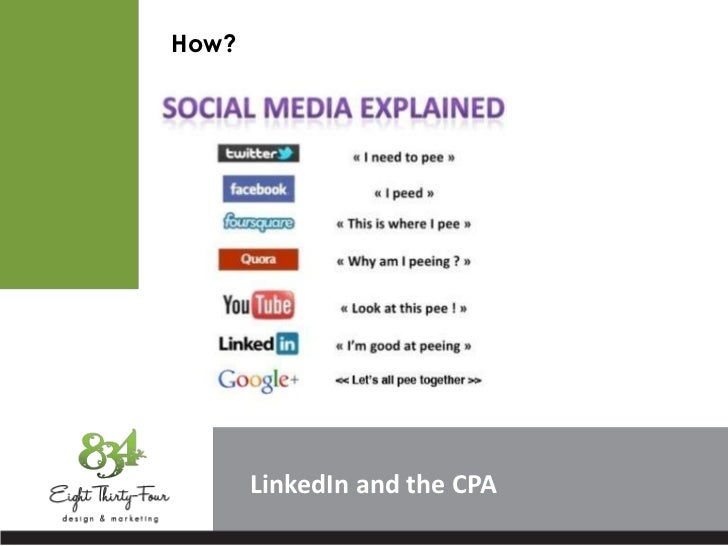 How?       LinkedIn and the CPA